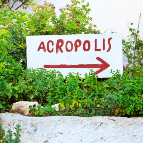 Acropolis of Athens Sign Anafiotika