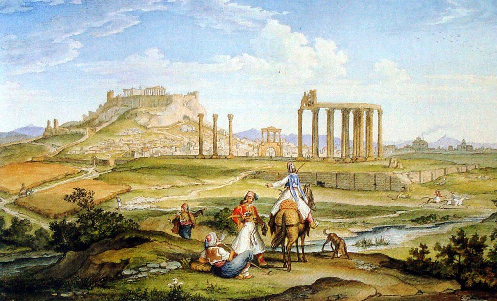 Athens River Ilissos 1833 Olympian Zeus
