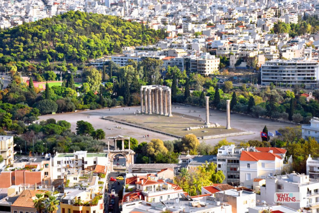Temple Olympian Zeus Athens Aerial