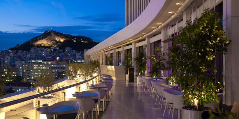 Galaxy Bar Whyathens Photograph Courtesy Of Hilton Hotel Athens