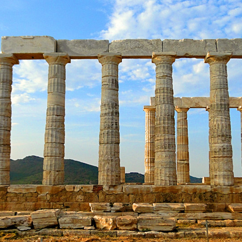 Cape Sounion Temple of Poseidon Athens