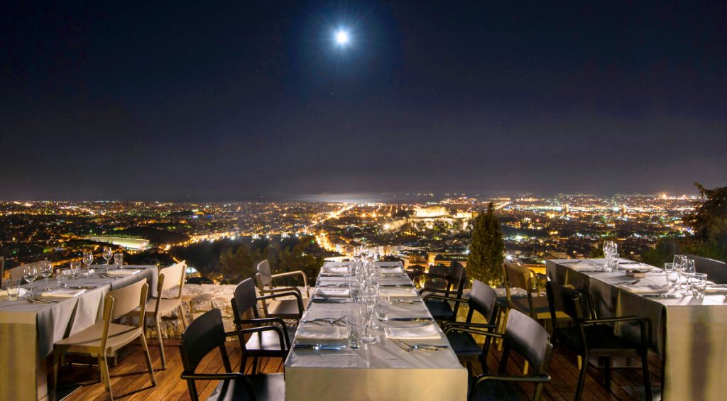 Best Upscale Restaurants in Athens Orizontes Night