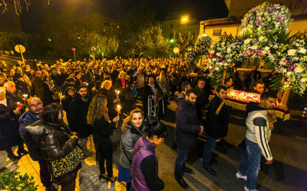 Greek Orthodox easter Athens Greece Epitaphio