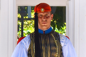 Evzones Uniform Greek Soldier Athens