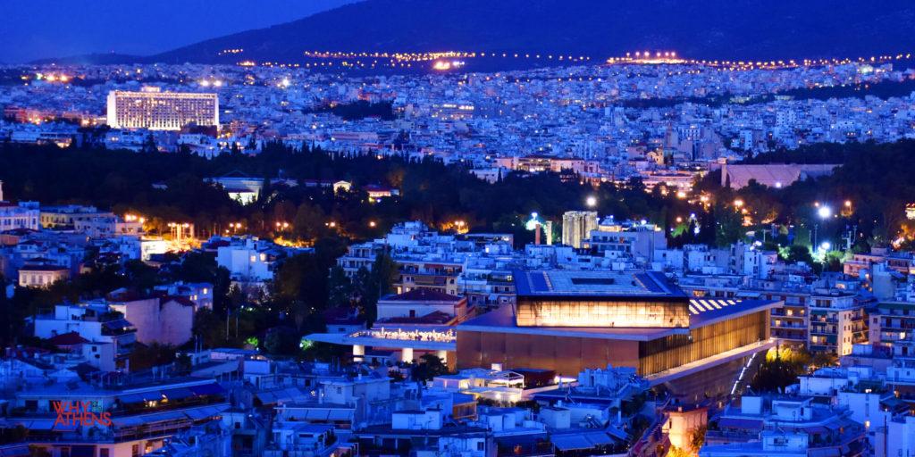 Acropolis Museum Night Landscape