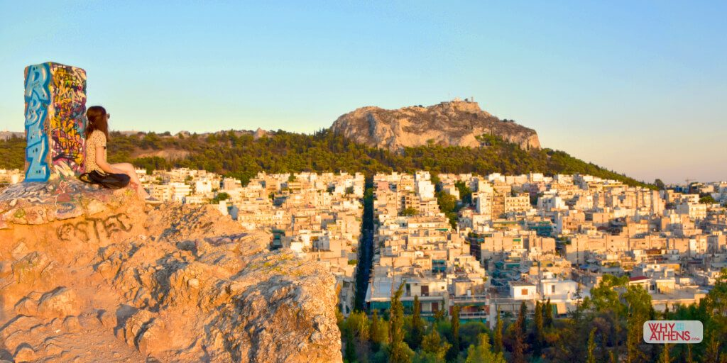 Athens Greece Strefi Hill