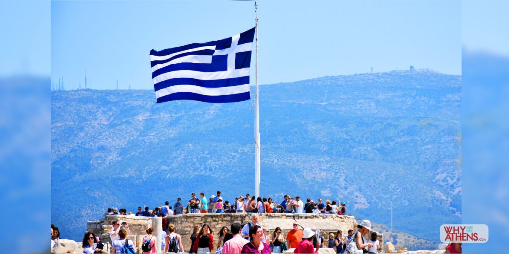 Athens Greece Photo stories Belvedere Acropolis Flag