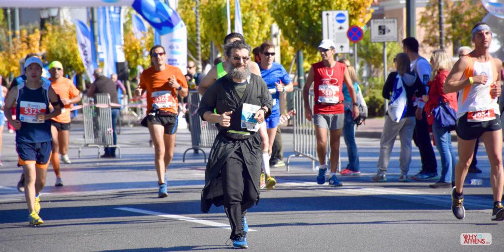 Athens Marathon runner