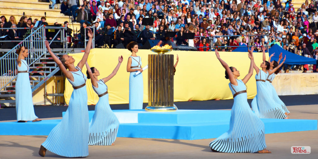 Athens Olympic torch handover ceremony
