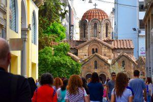 Greek Orthodox easter Athens Greece Kapnikarea