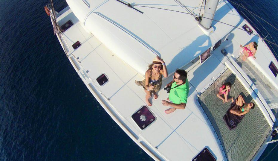 Sailing Athens Riviera Catamaran Aerial