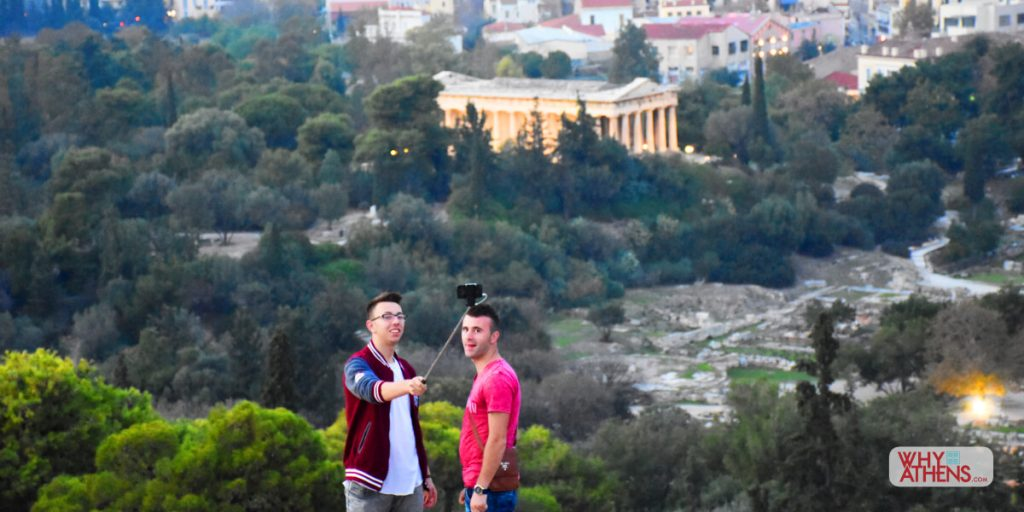 Selfie Athens Areopagus Hill Hephaestus