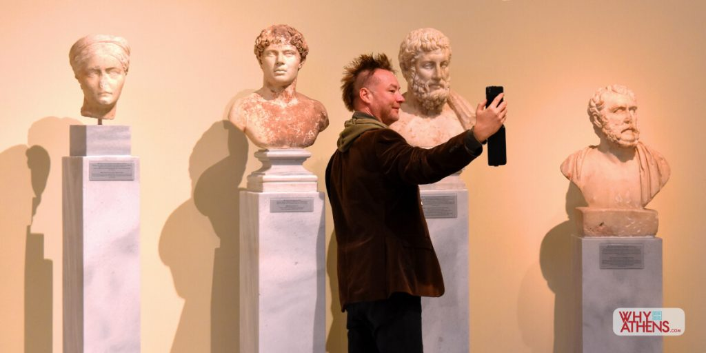 Selfie Athens National Archaeological Museum