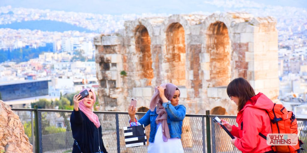 Selfie Athens Odeon Herodes Atticus