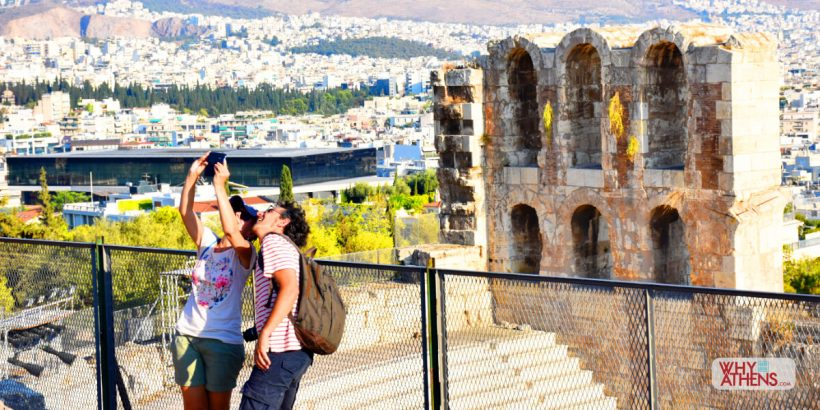 Selfie Athens Odeon Herodes