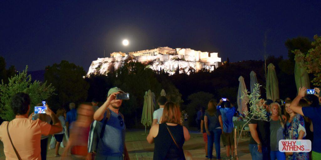 Selfie Athens Full Moon festival