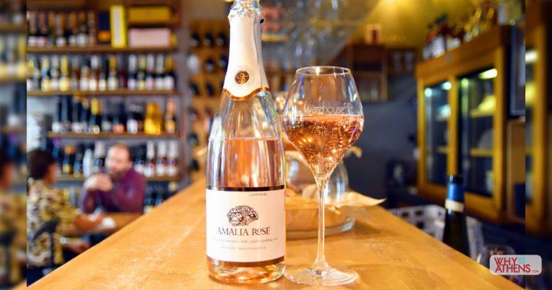 Greek Sparkling Wines Athens Warehouse CO2 Rose