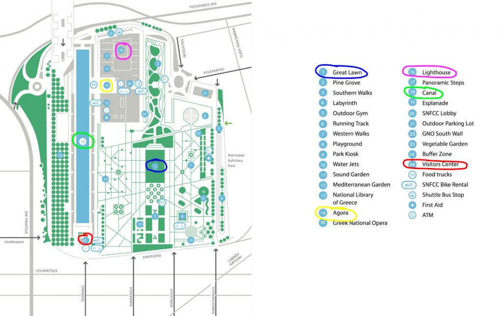 Stavros Niarchos Center Athens Map