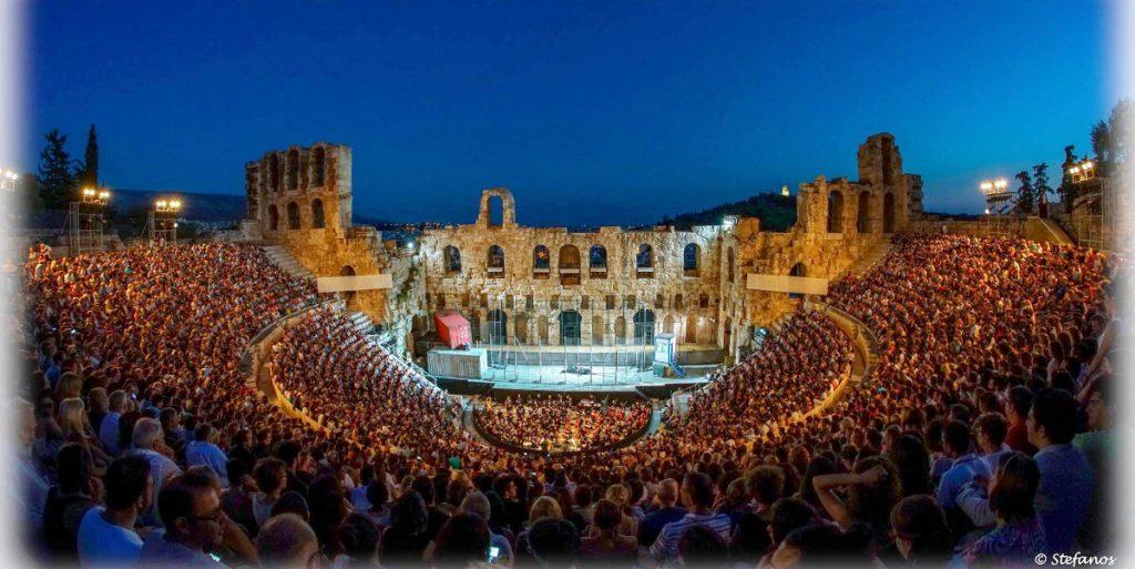 Odeon Herodes Atticus Athens Epidaurus Festival Crowds