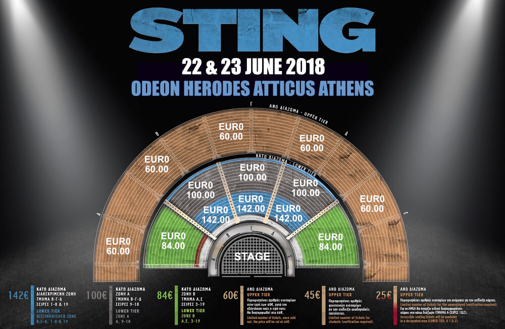 Sting Athens Odeon Herodes Seating Map