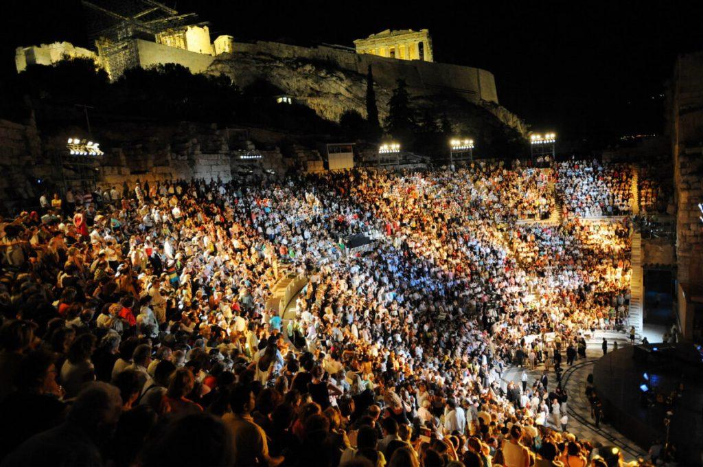 Nana Mouskouri Athens Epidaurus Festival Odeon