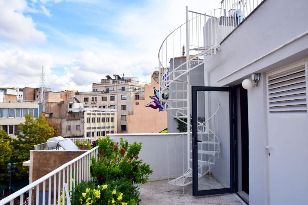 Property in Athens Rooftop Staircase