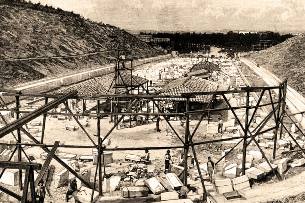 Panathenaic Stadium Athens 1896 Building Process