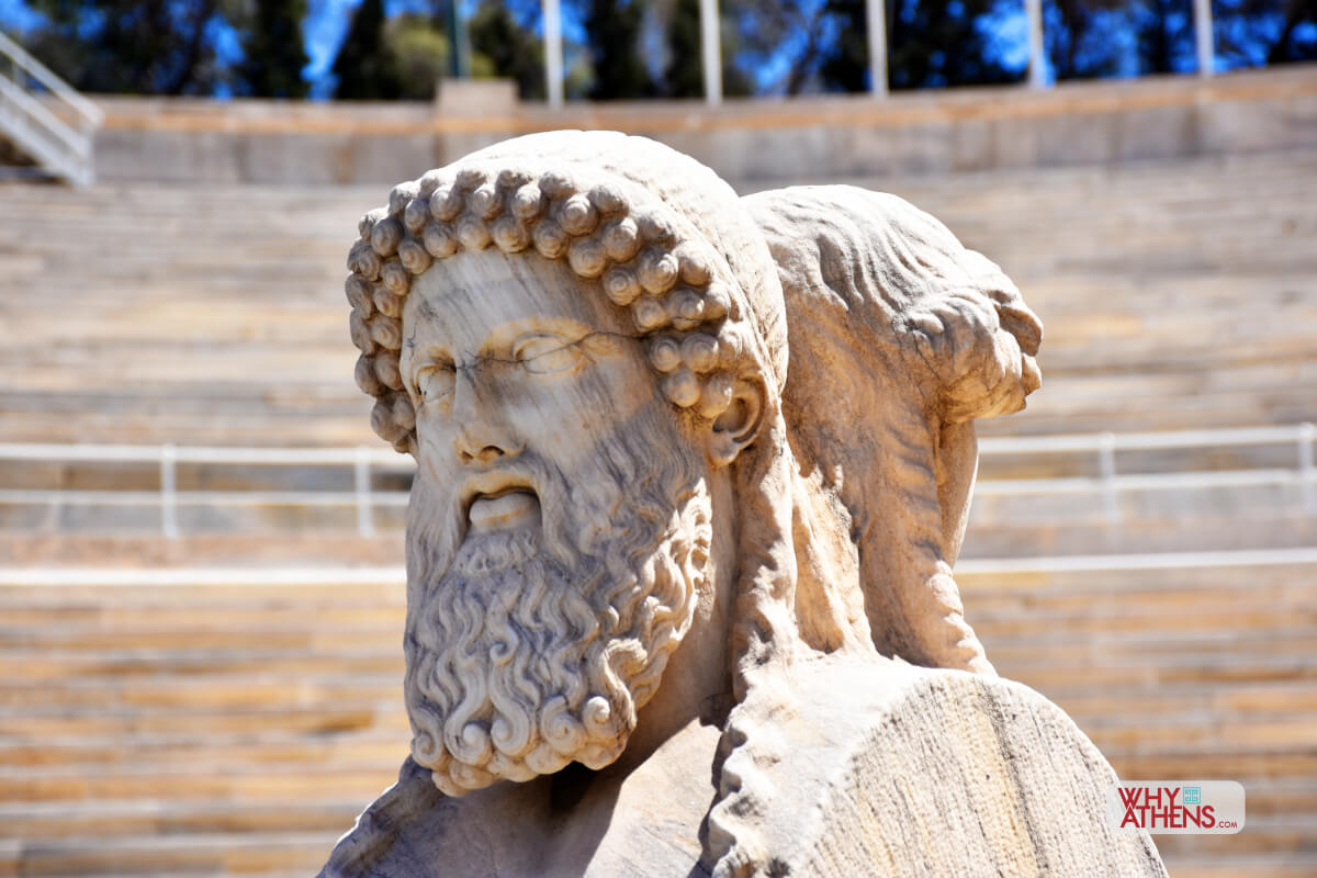 Panathenaic Stadium Athens Herms Two Faces