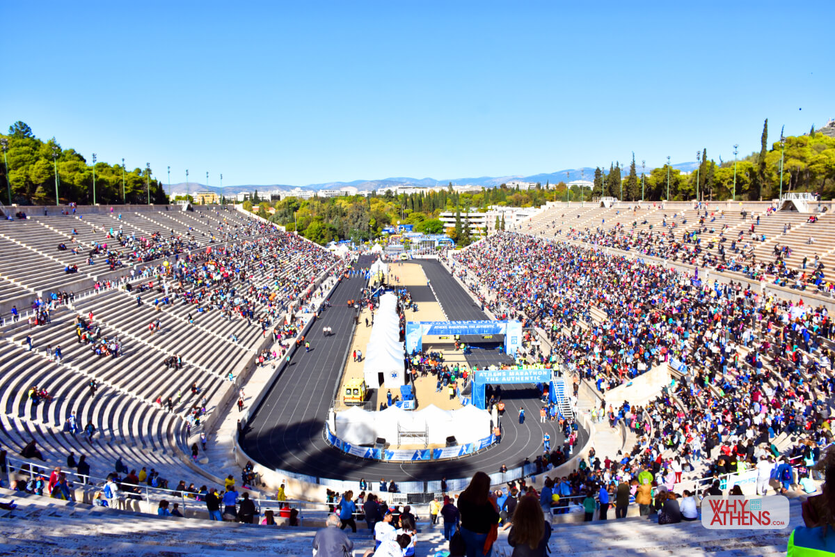Panathenaic Stadium Athens Marathon Finish Line