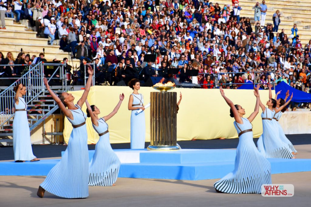 Panathenaic Stadium Athens Olympic Torch Ceremony