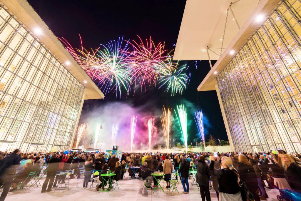 Stavros Niarchos Center Athens Fireworks