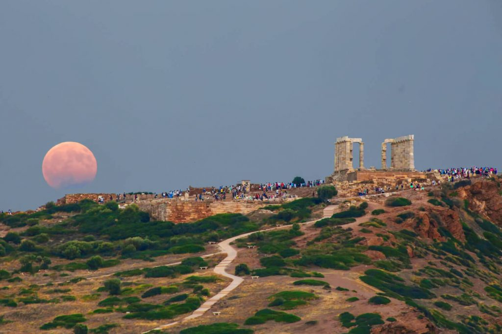 What to do in Athens in August Full Moon Cape Sounio