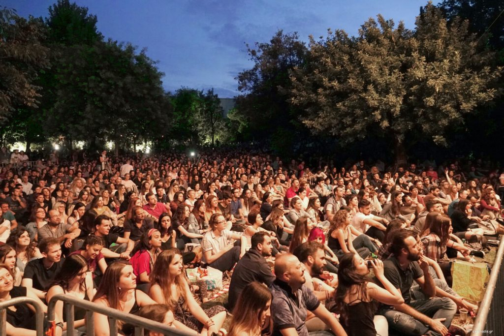 music outdoors megaron athens