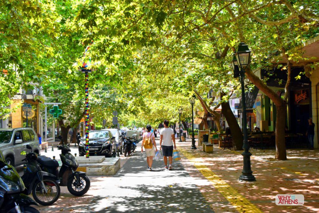 Kifissia Athens Shopping Leafy Street
