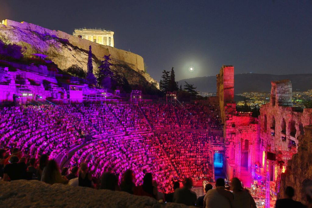 Norma Odeon Herodes Athens Festival National Opera Crowd