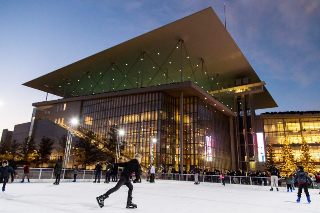 Stavros Niarchos Center Athens Christmas Ice Skating