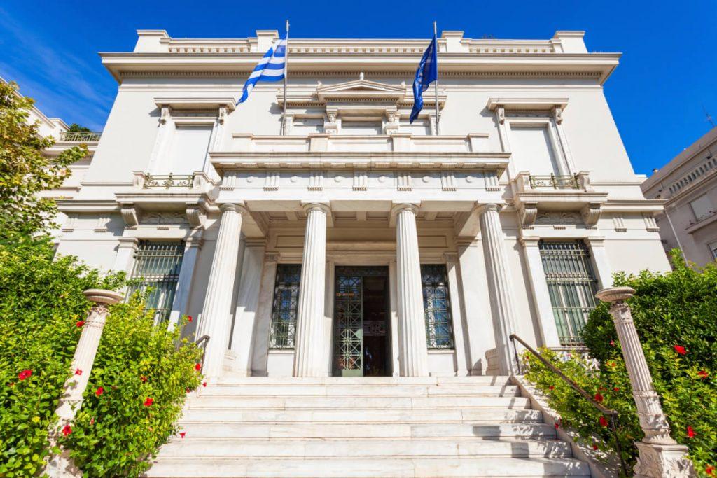 Neoclassical Buildings Athens Benaki Museum