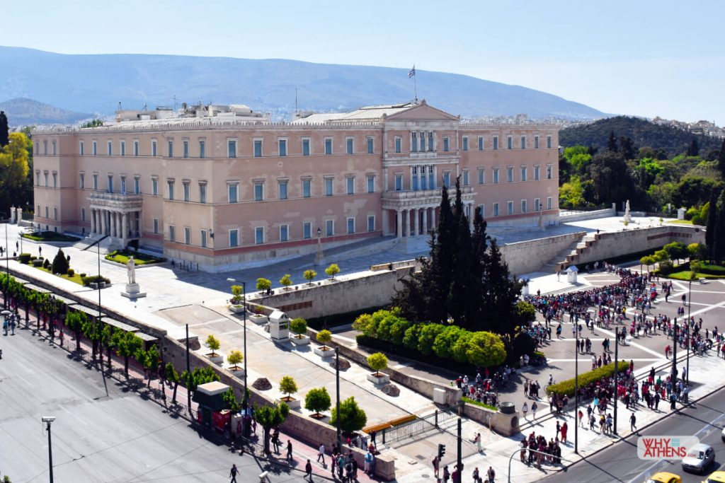 Neoclassical Buildings Athens Hellenic Parliament
