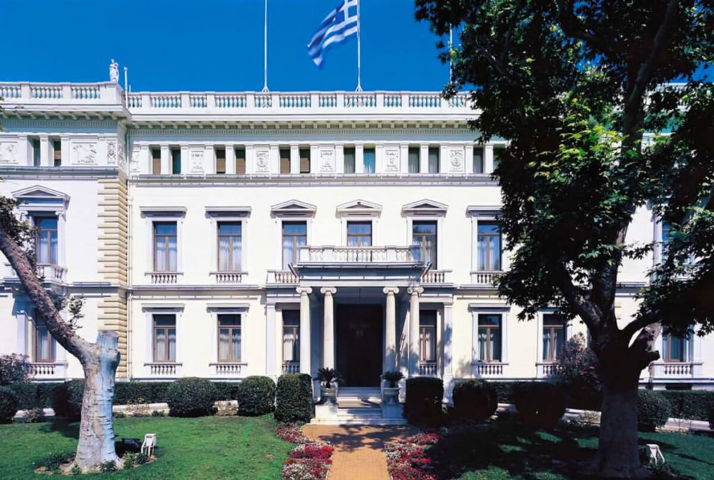 Neoclassical Buildings Athens Presidential Mansion