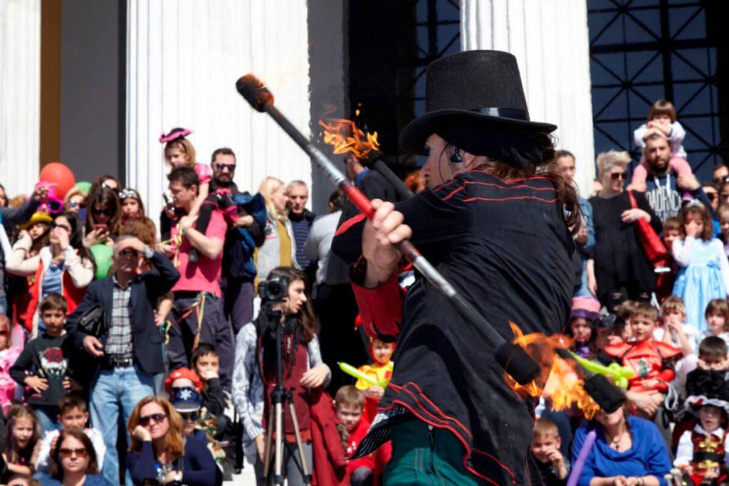 Apokries Carnival Athens Juggler