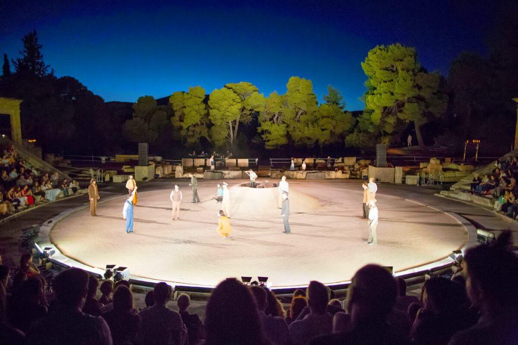 Suppliants Epidaurus Theatre Athens Festival Stage