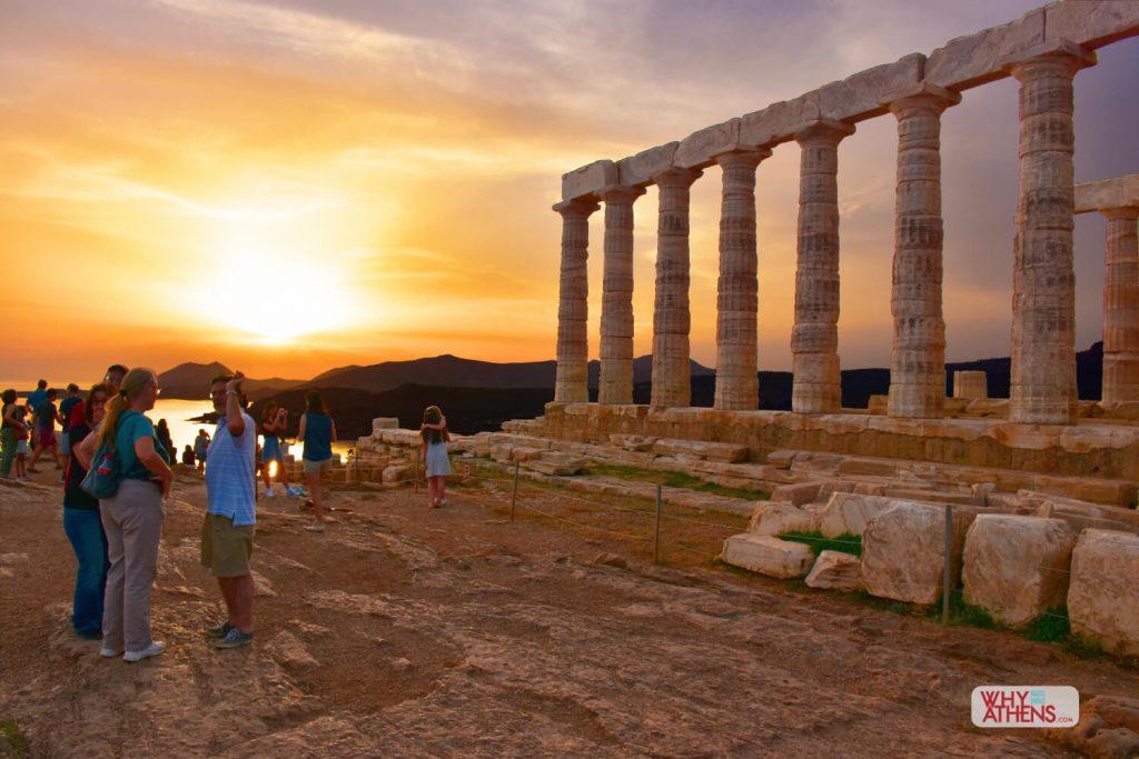 Athens Riviera Vouliagmeni Sounio Sunset