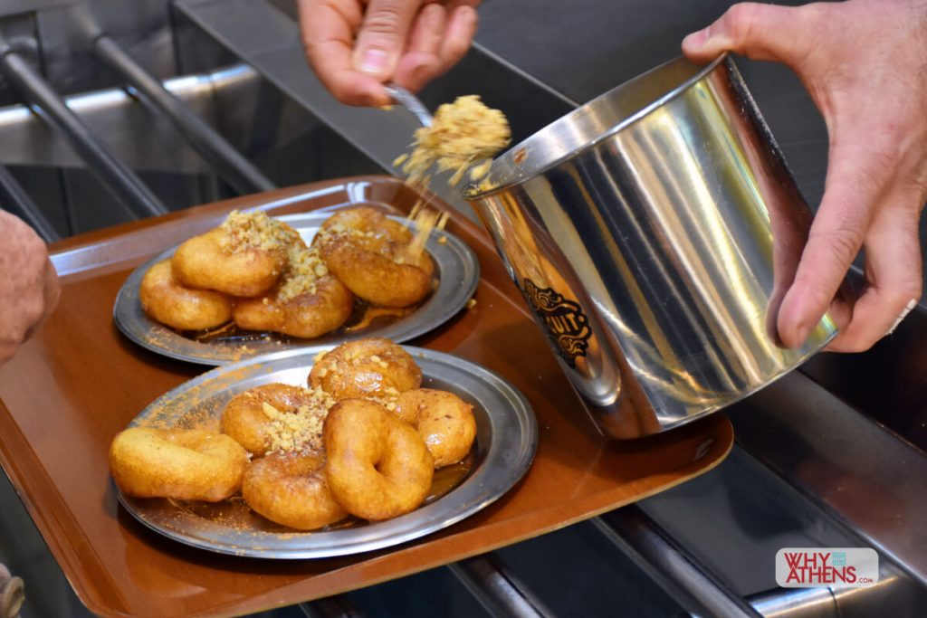 Krinos Loukoumades Athens Greek Donuts Nuts