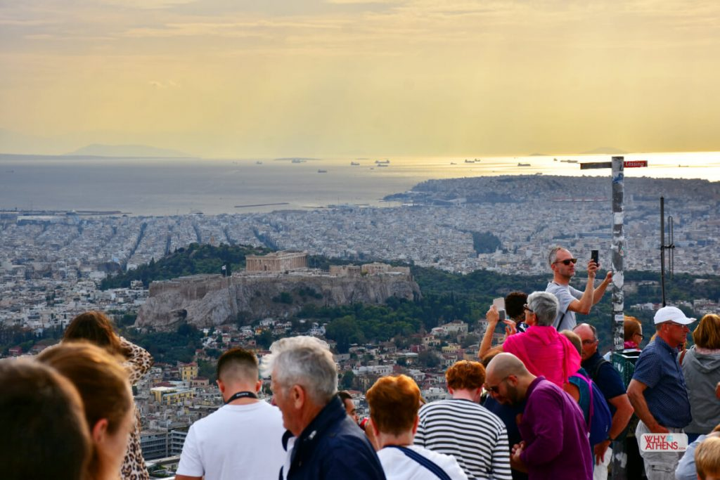 Hills of Athens Lycabettus Crowd