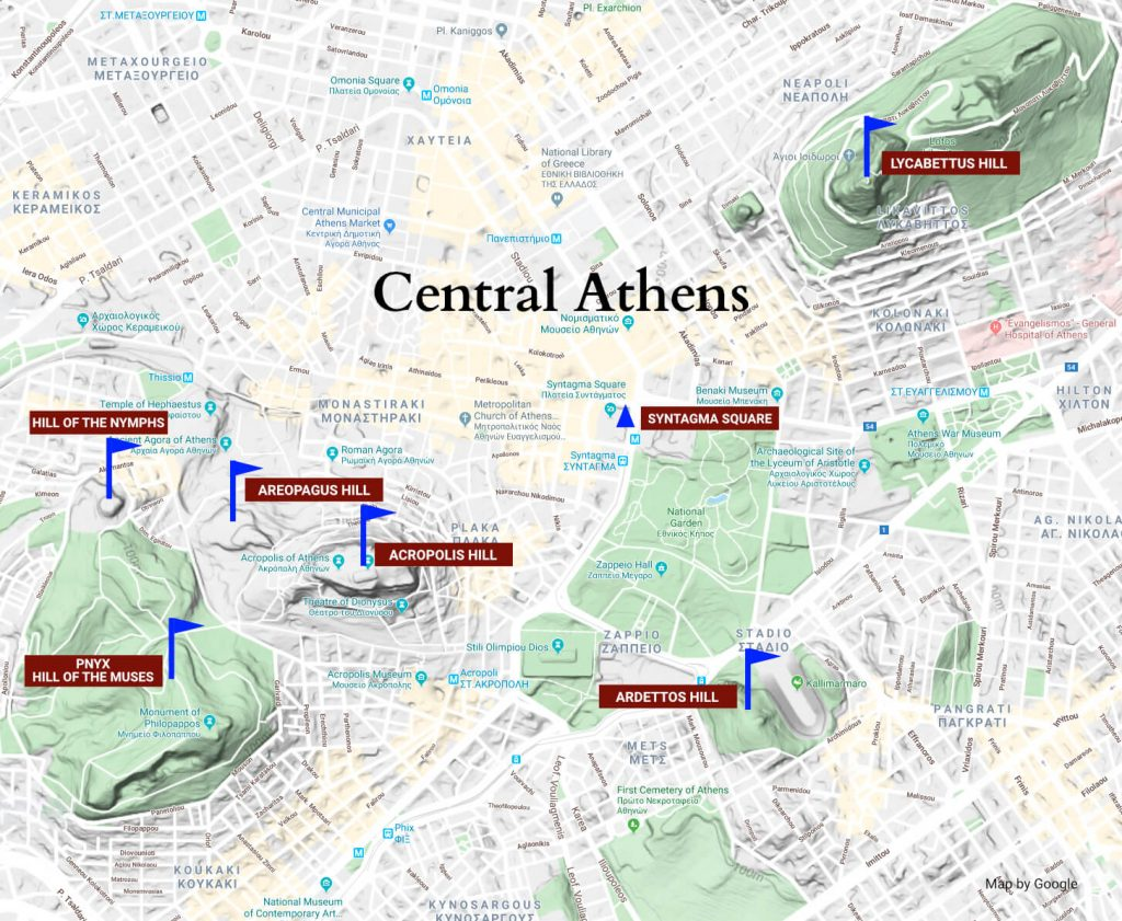 Hills Of Athens Archaeological Journey Of Athens Hills Why Athens