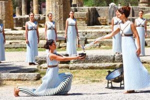 Olympic Flame Ancient Olympia